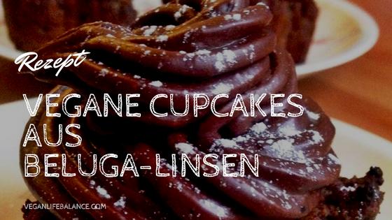 Beluga Linsen Cupcakes